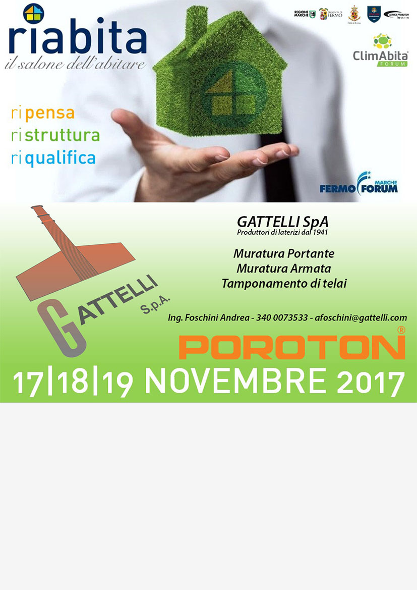 Gattelli Spa in fiera a Fermo - 17/18/19 novembre 2017